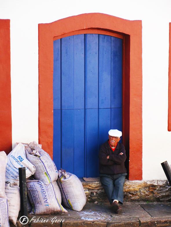 Vigilante da serragem em Ouro Preto