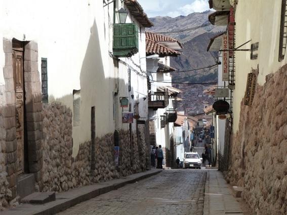 Bairro de San Blas em Cusco no Peru