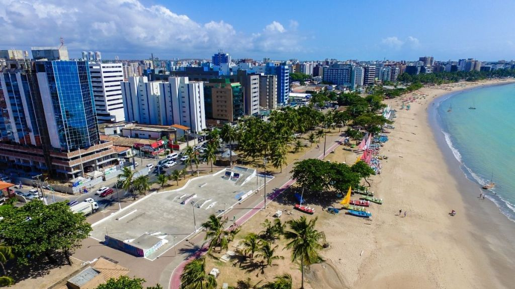 Vista aérea de Maceió, Alagoas.