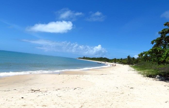 Foto da praia do Mutá em Porto Seguro