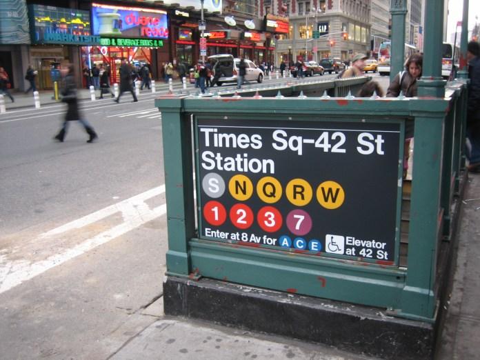 Estação na Times Square