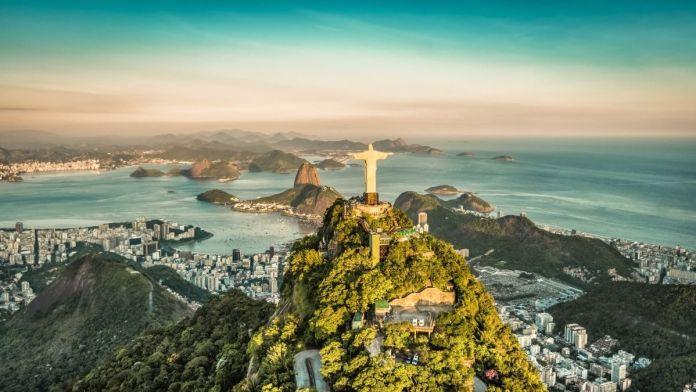 Vista aérea da Baía de Botafogo, Rio de Janeiro