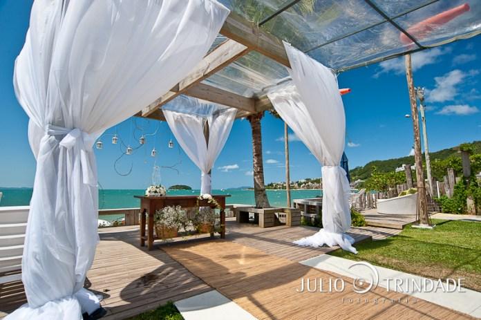 casamento na praia de Jurerê Internacional
