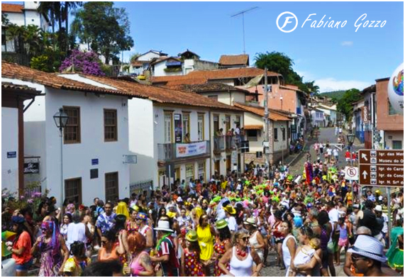 Carnaval de rua em Sabará