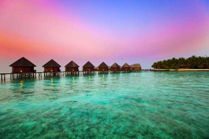Foto linda das Ilhas Maldivas