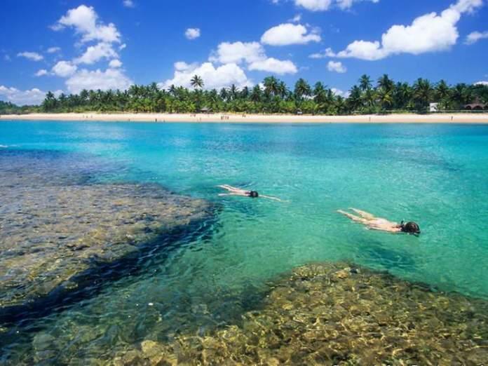 Taipus de Fora na Península do Maraú é uma das melhores praias da Bahia