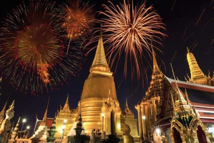 Comemorando o ano novo na Tailândia