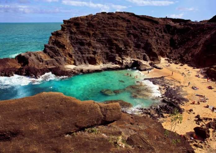 Halona Cove, Oahu praias mais lindas do Havaí