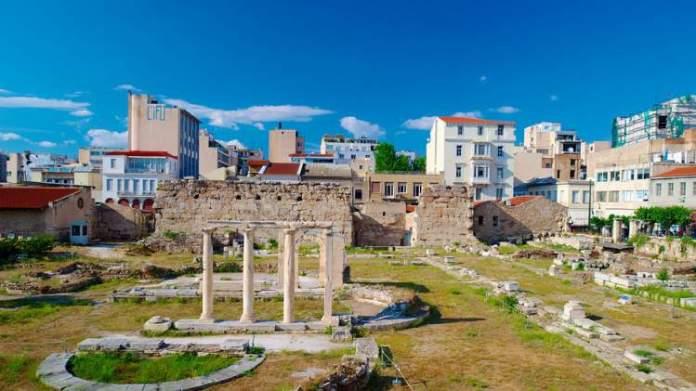 Ágora de Atenas na Grécia