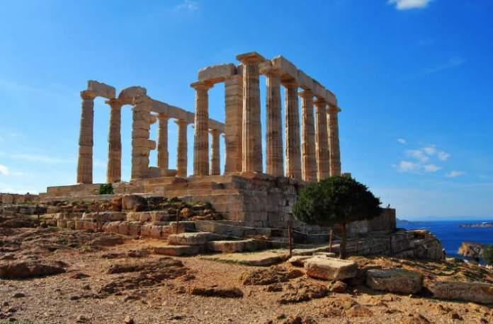 Cabo de Sounion na Grécia