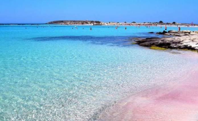 Creta na Grécia praia