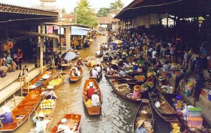 Mercado Flutuante (Damnoen Saduak) Tailândia