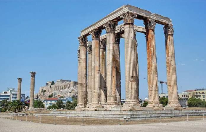 Templo de Zeus Olímpico na Grécia
