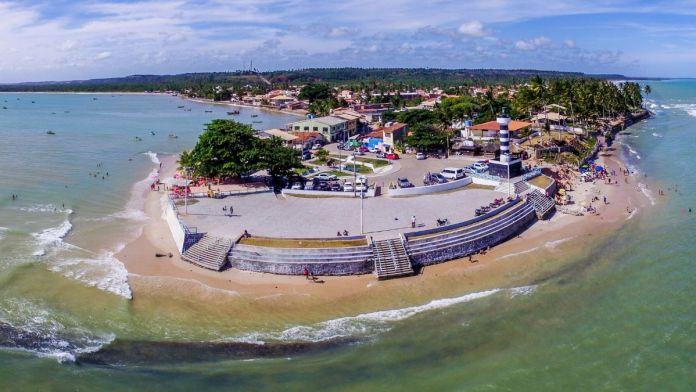 Imagem aérea de Pontal do Coruripe, Alagoas.