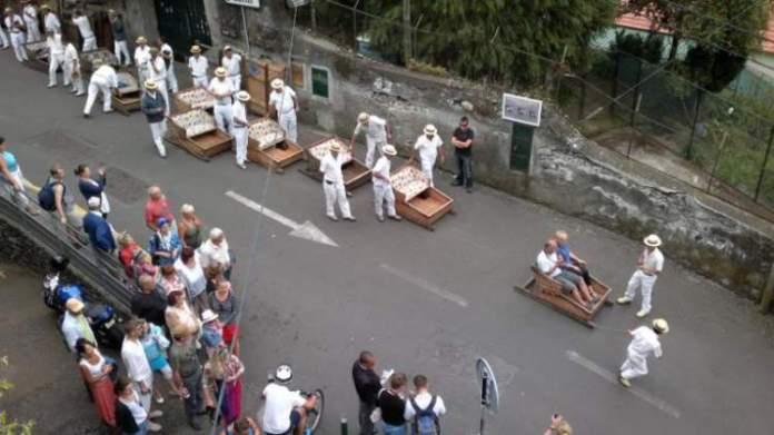 Descida de cesto na Ilha da Madeira