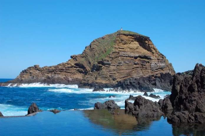 Porto Moniz na Ilha da Madeira