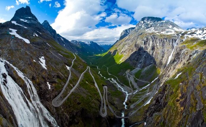 Trollstigen é um dos destinos surreais na Noruega