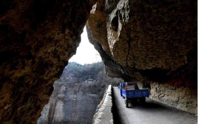 Túnel de Guoliang, Taihang, China é uma das estradas maravilhosas