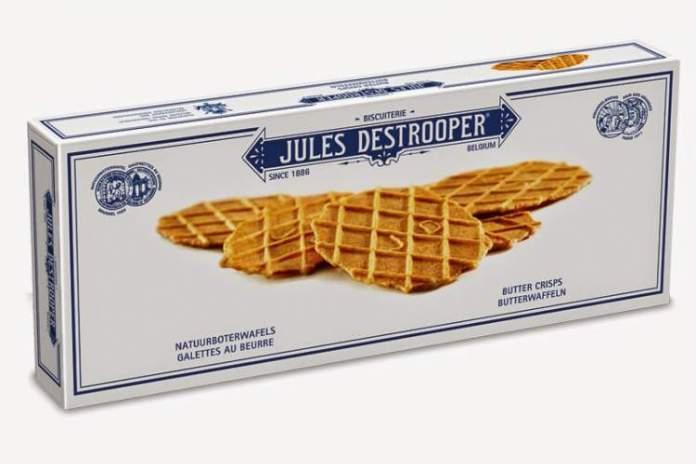 Biscoitos amanteigados em Bruxelas