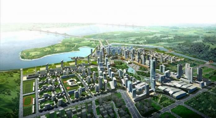 Fujisawa no Japão é uma das cidades futuristas
