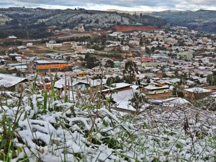 General Carneiro no Paraná é um dos lugares no Brasil que costumam nevar no Inverno