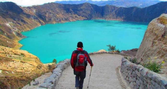 Lago Quilotoa em Quito