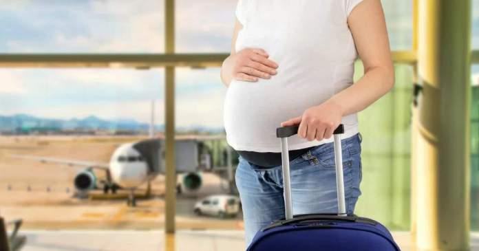 Grávida pode viajar de avião capa