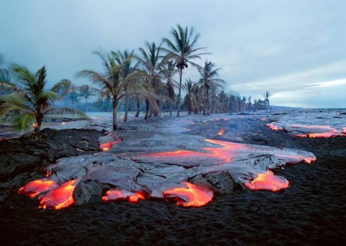 Kilauea Beach no Havaí é uma das praias mais perigosas do mundo