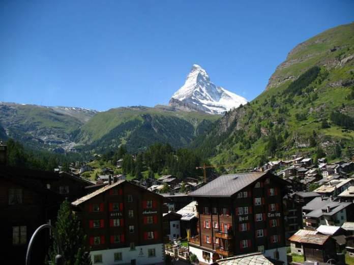 Zermatt é um dos lugares maravilhosos na Suíça