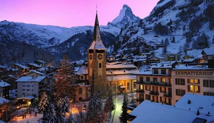 Zermatt é um dos lugares na Suíça com paisagens deslumbrantes