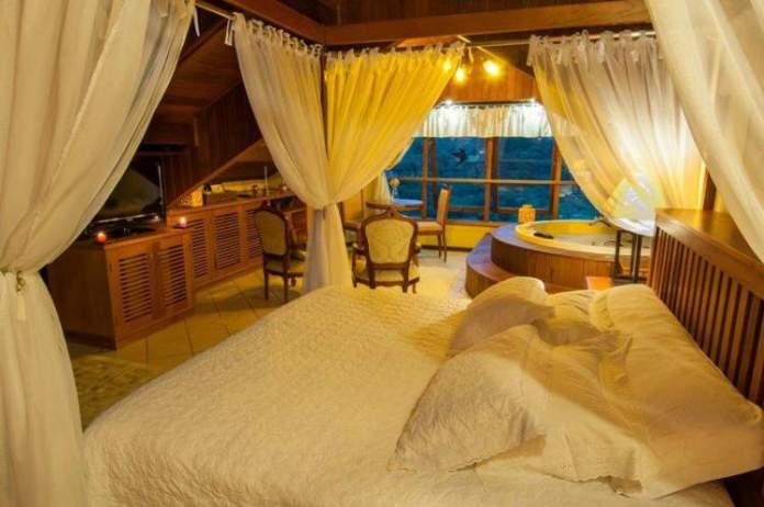 Pousada Carícia do Vento é uma das pousadas românticas em Monte Verde
