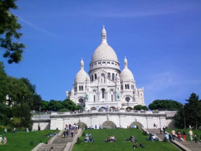 Basílica de Sacré Coeur é uma das Atrações Gratuitas em Paris
