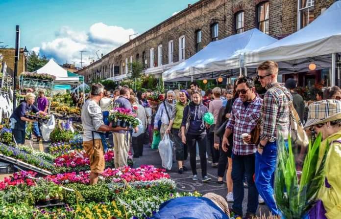 Columbia Road Flower Market é uma das Atrações Gratuitas em Londres