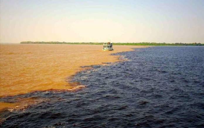 Encontro das Águas é um dos melhores pontos turísticos do Amazonas