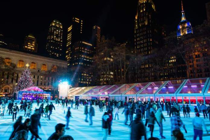 O que fazer em Nova York Patinar no Winter Village at Bryant Park