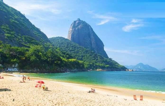 Praia Vermelha é um dos Lugares Românticos no Rio de Janeiro