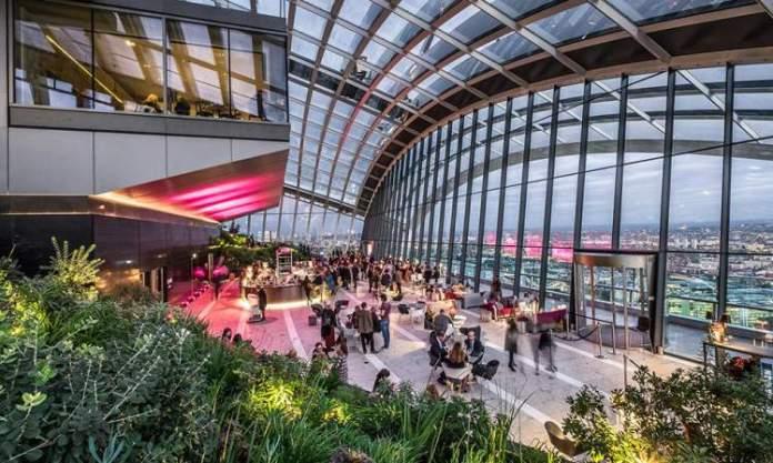 Sky Garden é uma das Atrações Gratuitas em Londres