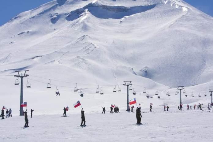Corralco no Chile é um dos destinos de esqui na América do Sul