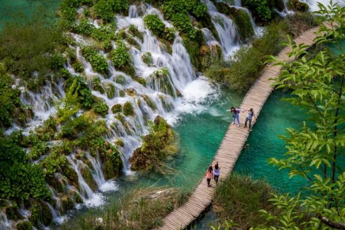parque dos Lagos Plitvice post um
