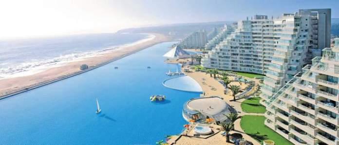 Resort San Alfonso Del Mar tem uma das Maiores Piscinas do Mundo