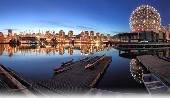 Vancouver é um dos lugares impressionantes no Canadá