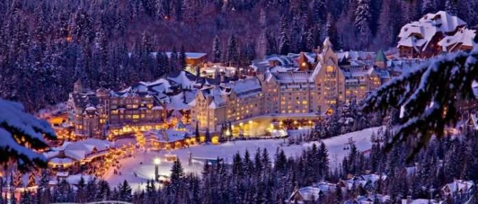 Whistler é um dos lugares impressionantes no Canadá