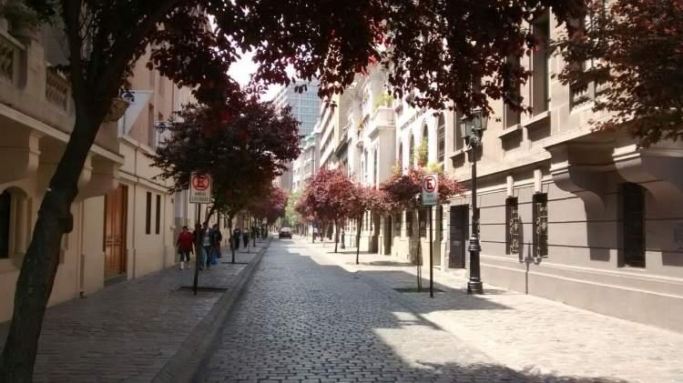 Bairro Paris-Londres em Santiago do Chile