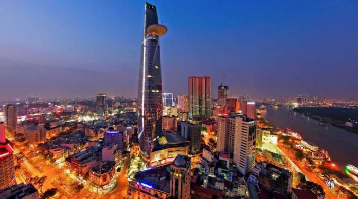 Bitexco Financial Tower em Ho Chi Minh no Vietnã