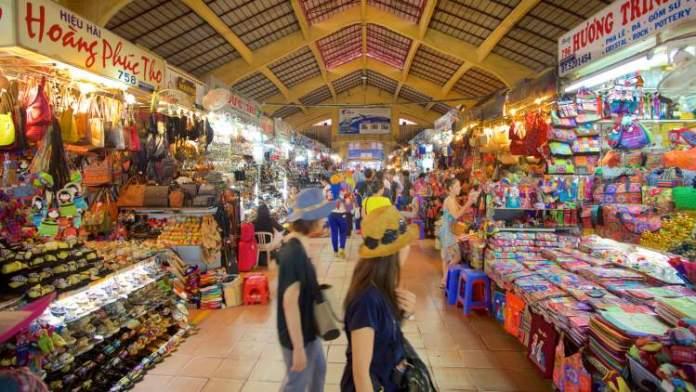 Mercado Ben Thanh em Ho Chi Minh no Vietnã