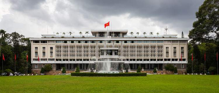 Palácio da Reunificação em Ho Chi Minh no Vietnã
