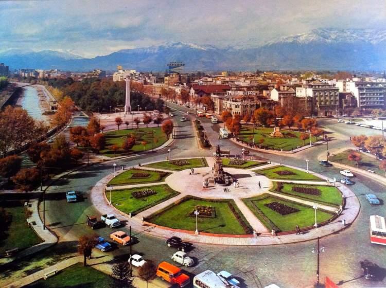Plaza Itália em Santiago do Chile