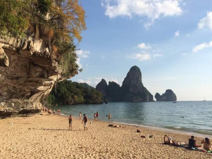Praias em Railay Beach na Tailândia