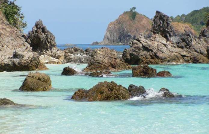 Arquipélago Mergui em Myanmar é um dos lugares deslumbrantes na Ásia