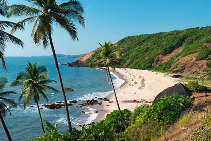 Praias de Goa na Índia